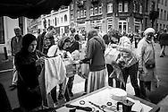 Grande brocante Cavell Village, Rue Vanderkindere, Bruxelles 26 June 2016. Photo: Erik Luntang