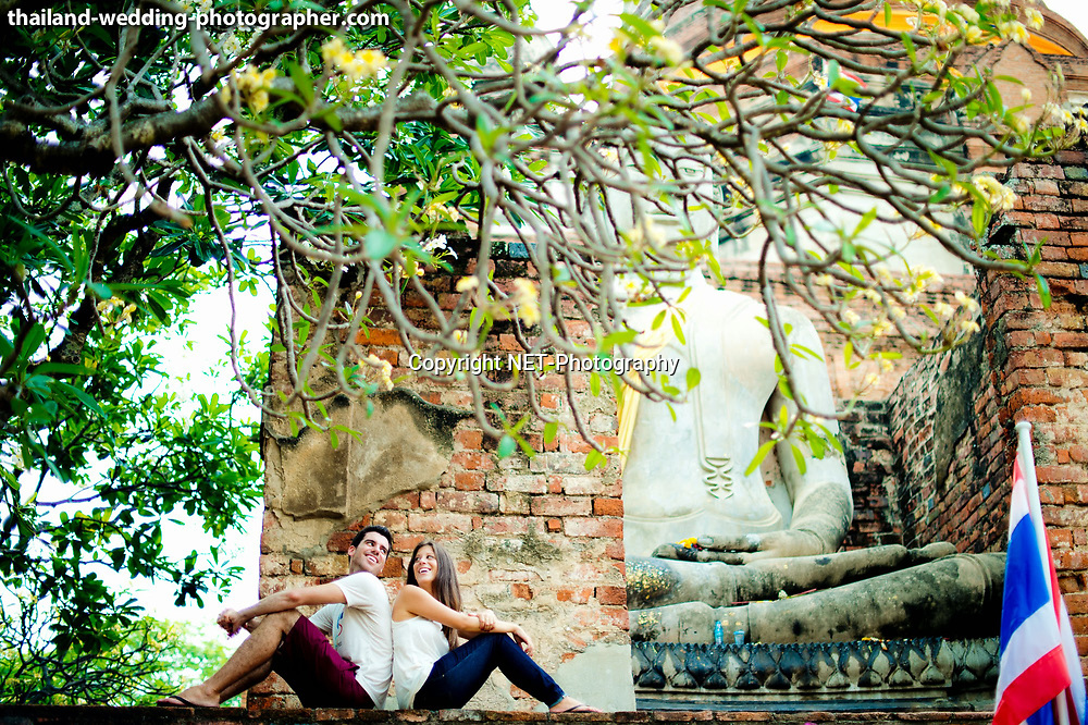 Ayutthaya Thailand - American Couple's prewedding (prenuptial, engagement session) at Wat Yai Chai Mongkhon in Ayutthaya, Thailand.<br /> <br /> Photo by NET-Photography<br /> Ayutthaya Thailand Wedding Photographer<br /> info@net-photography.com<br /> <br /> View this album on our website at http://thailand-wedding-photographer.com/ayutthaya-engagement-session-wedding-couple-america-canada/?utm_source=photoshelter&amp;utm_medium=link&amp;utm_campaign=photoshelter_photo