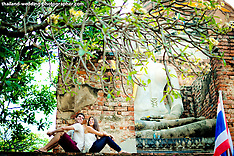 Ayutthaya Engagement Photography: American & Canadian Couple
