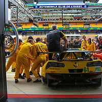 Extraction Team  Practice #64, Corvette Racing-GM, Chevrolet Corvette C7.R, driven by, Oliver Gavin, Tommy Milner, Marcel Fassler, 24 Heures Du Mans Test weekend, 03/06/2017,