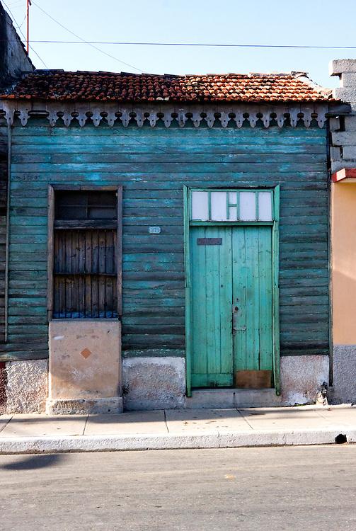 Wood house in Cardenas, Matanzas, Cuba.