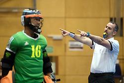 BERLIN - Indoor Hockey World Cup<br /> Kazakhstan - Poland<br /> foto: Umpire MARTINEZ Luis<br /> WORLDSPORTPICS COPYRIGHT FRANK UIJLENBROEK