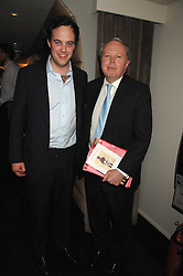 Left to right, LORD BUCKHURST and his father the EARL DE LA WARR at a party to celebrate the Russian New Year in association with Stolichnaya vodka held at Harvey Nichols, London on 14th January 2008.<br /> <br /> NON EXCLUSIVE - WORLD RIGHTS