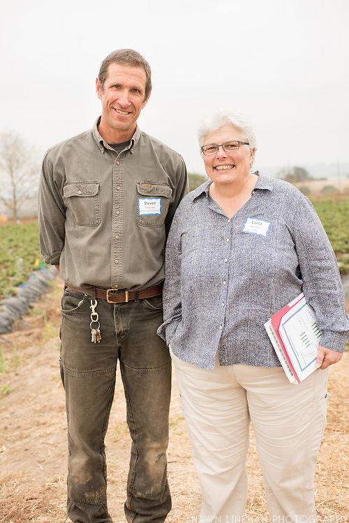 Steve Pederson of High Ground Organics and Carol Shennan of UC Santa Cruz