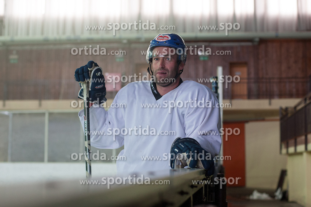 Tomaz Razingar during practice at media day of Anze Kopitar before departure to USA, on September 10, 2012 in Ice hall, Bled, Slovenia. (Photo by Matic Klansek Velej / Sportida.com)