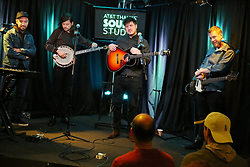 BALA CYNWYD, PA - DECEMBER 7: Mumford And Sons visit Radio 104.5 performance studio on the first sold out night of their new tour on December 7, 2018 in Bala Cynwyd, Pa. CAP/MPI09 ©MPI09/Capital Pictures. 07 Dec 2018 Pictured: Mumford And Sons. Photo credit: MPI09/Capital Pictures / MEGA TheMegaAgency.com +1 888 505 6342