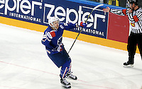 Joie Stephane Da Costa - 12.05.2015 - Lettonie / France - Championnats du Monde Hockey sur Glace -Prague<br /> Photo : Xavier Laine / Icon Sport