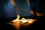 """Florence Fagherazzi creation called """"kintsugi"""" inspired by a traditional Japaneese belief. It is a show about women abused"""