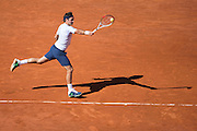 Paris, France. Roland Garros. June 4th 2013.<br /> Swiss player Roger FEDERER against Jo-Wilfried TSONGA