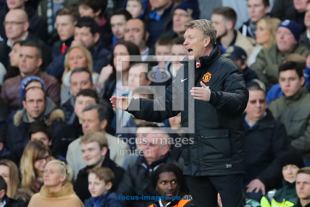 Picture by Richard Calver/Focus Images Ltd +447792 981244<br /> 19/01/2014<br /> Manager of Manchester United, David Moyes during the Barclays Premier League match against Chelsea at Stamford Bridge, London.