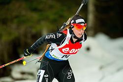 Lena Haecki of Switzerland competes during Women 7.5 km Sprint at day 1 of IBU Biathlon World Cup 2014/2015 Pokljuka, on December 18, 2014 in Rudno polje, Pokljuka, Slovenia. Photo by Vid Ponikvar / Sportida