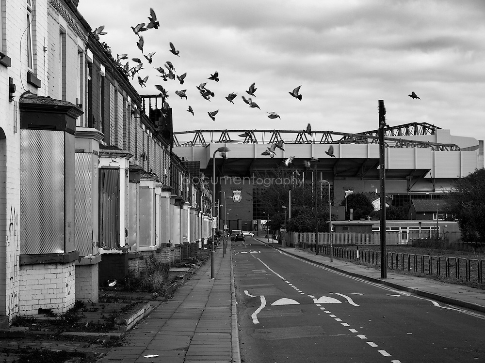 Anfield near Liverpool FC stadium...OLYMPUS DIGITAL CAMERA