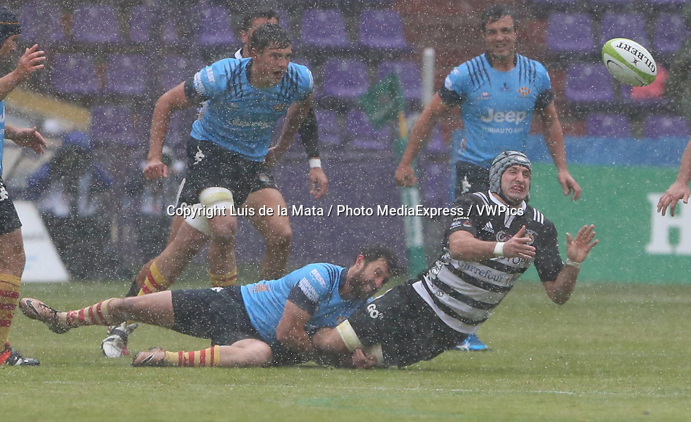 VALLADOLID, SPAIN. APRIL 30th, 2017 - Rugby Copa del Rey Final Match. Silverstorm El Salvador vs Unio Esportiva Santboiana at Nuevo Jose Zorrilla Stadium. on 30 april  in Valladolid. Photo by Luis de la Mata / PHOTO MEDIA EXPRESS