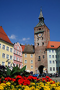 landsberg main square with flowers
