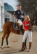 Picture by Mark Larner / Retna Pictures. Picture shows Jodie Kidd and brother, Jack Kidd at the launch of the World Polo Series with the UK Team, Hurlingham Club, London. February 12th, 2008.
