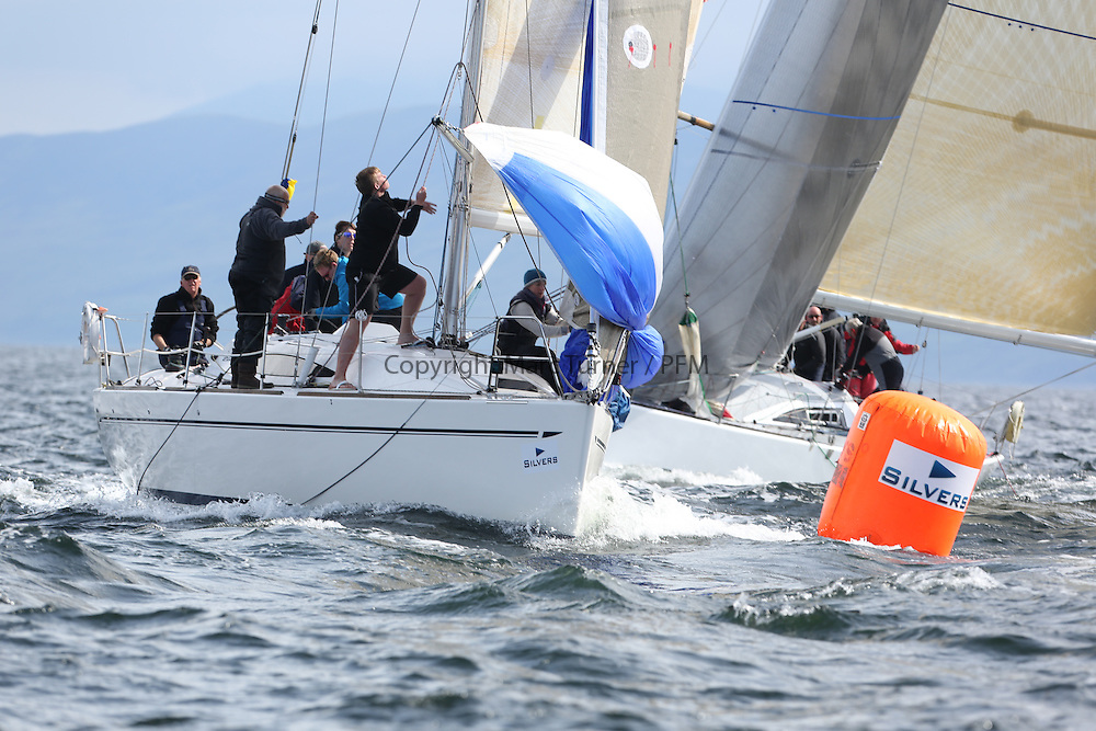 The Silvers Marine Scottish Series 2014, organised by the  Clyde Cruising Club,  celebrates it's 40th anniversary.<br /> Day 2, 3401C, Rogue Trader, James Cumming, FYC, Elan 340<br /> Racing on Loch Fyne from 23rd-26th May 2014<br /> <br /> Credit : Marc Turner / PFM