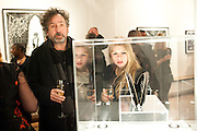 TIM BURTON; ROSE BONHAM-CARTER, Lulu Guinness And Rob Ryan Fan Bag - Launch Party. Air Gallery. London. 10 November 2010.  -DO NOT ARCHIVE-© Copyright Photograph by Dafydd Jones. 248 Clapham Rd. London SW9 0PZ. Tel 0207 820 0771. www.dafjones.com.