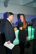 STEPHEN BARTER; AMY DICKSON, LA Philharmonic reception, Fountain room, Barbican. 27 January 2011 -DO NOT ARCHIVE-© Copyright Photograph by Dafydd Jones. 248 Clapham Rd. London SW9 0PZ. Tel 0207 820 0771. www.dafjones.com.