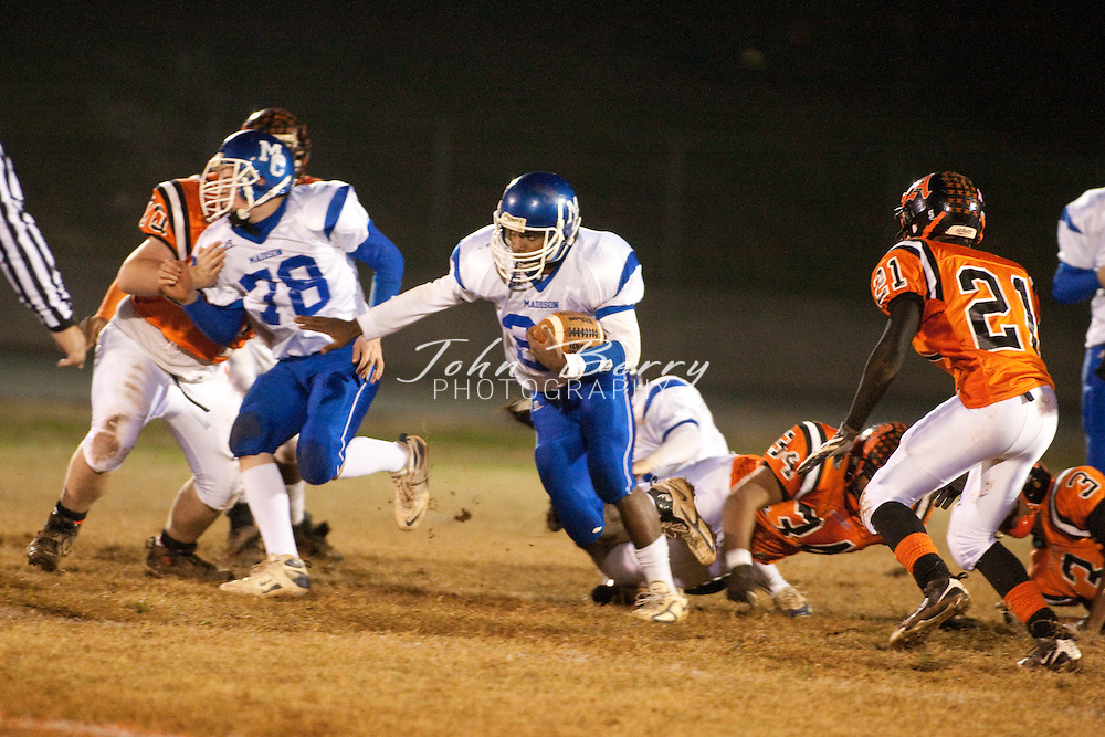 MCHS Varsity Football .at Altavista Colonels .Region B Semi Final .Altavista 10, Madison 0 .11/20/09