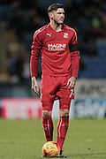 Ben Gladwin (Swindon Town) about to take a free kick outside Bolton's penalty box during the EFL Sky Bet League 1 match between Bolton Wanderers and Swindon Town at the Macron Stadium, Bolton, England on 14 January 2017. Photo by Mark P Doherty.