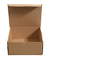 carton package box over white background