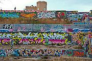 Castle Hill Graffiti Wall, Austin, Texas, February 26, 2013.