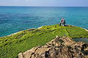 Angler, Küste bei Achziv, Israel.|.Achziv Coast, Israel.