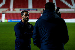 Bristol Rovers manager Tom Parrinello post match interview - Mandatory by-line: Robbie Stephenson/JMP - 29/10/2019 - FOOTBALL - County Ground - Swindon, England - Swindon Town v Bristol Rovers - FA Youth Cup Round One