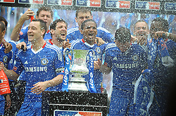 Wembley FA Cup Final Chelsea v Portsmouth (1-0) 15/05/2010.Double winners Chelsea Celebrate.