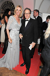 ANITA GERHARDTER Chief Executive Officer of Wings For Life and the EARL OF MARCH at the Cord Club's 'Wings For Life' Ball held at One Marylebone, London on 28th February 2013.