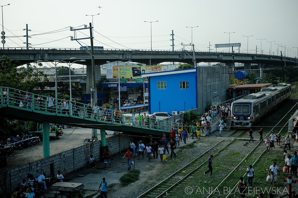 Philippines, Metro Manila. Railway station in Bicutan.