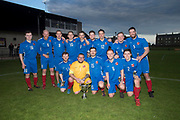 18/05/2017 - DC Athletic with the George McArthur Memorial Cup after beating FC Boukir in the final at North End Park, Dundee, Picture by David Young -