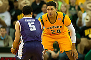WACO, TX - JANUARY 11: Ish Wainright #24 of the Baylor Bears defends against the TCU Horned Frogs on January 11, 2014 at the Ferrell Center in Waco, Texas.  (Photo by Cooper Neill/Getty Images) *** Local Caption *** Ish Wainright