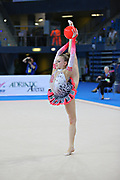 Kerber Jasmine during qualifying at ball in Pesaro World Cup at the Adriatic Arena on 26 April 2013. Jasmine is a American individual rhythmic gymnast born on December 4, 1996 in Chicago, Illinois, United States.