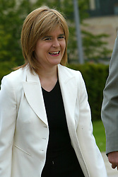Nicole Sturgeon before results. The SNP leadership election result at Dynamic Earth, 3/9/2004.