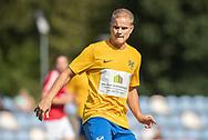 Stefan Fjeldsted Jensen (Ølstykke FC) under kampen i Serie 2 mellem Ølstykke FC og Ejby IF den 7. september 2019 på Ølstykke Stadion. Foto: Claus Birch.