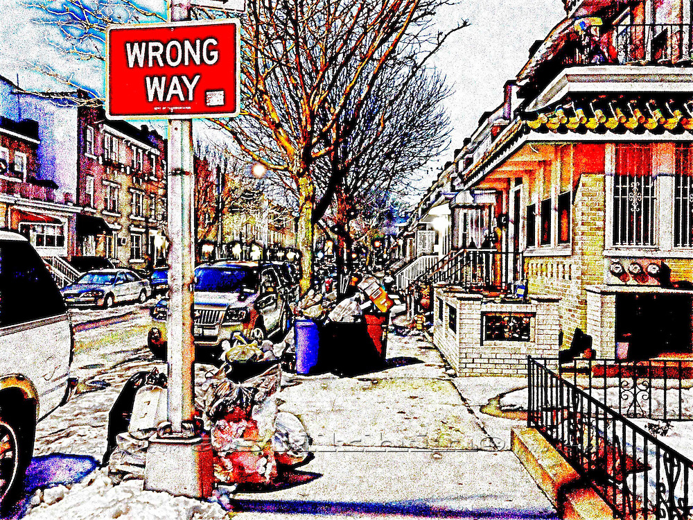 Sanitation day on Brooklyn's street.