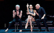 Diana Vishneva<br /> On the Edge <br /> at The London Coliseum, London, Great Britain <br /> 14th April 2015 <br /> <br /> Switch <br /> <br /> choreography by Jean-Christophe Maillot <br /> Bernice Coppieters<br /> Diana Vishneva<br /> Gaetan Morlotti <br /> <br /> <br /> <br /> Photograph by Elliott Franks <br /> Image licensed to Elliott Franks Photography Services