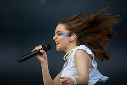 Lauren Mayberry of Chvrches on the main stage. TRNSMT Sunday 8th July 2018