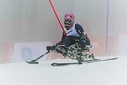 STEPHENS Laurie competing in the Alpine Skiing Super Combined Slalom at the 2014 Sochi Winter Paralympic Games, Russia