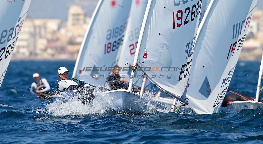 43 TROFEO S.A.R. PRINCESA SOFIA MAPFRE..training Mallorca, 30th of March 2012.Spanish Laser R sailor Farima Reyes © jesus renedo