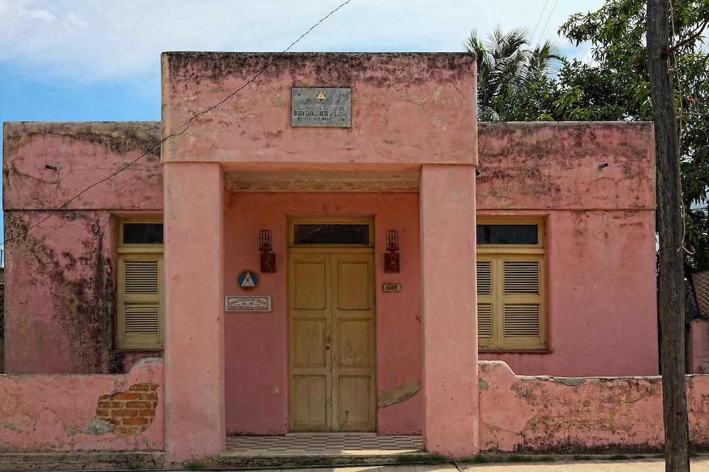 Masonic lodge in Santa Cruz del Norte, Mayabeque, Cuba.