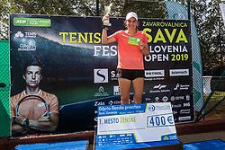 Lian Benedejcic winner of women's senior final of Slovenian championship Zavarovalnica Sava tournament at ATP Challenger Zavarovalnica Sava Slovenia Open 2019, on August 9, 2019 in Sports centre, Portoroz/Portorose, Slovenia. <br /> Photo by Grega Valancic / Sportida