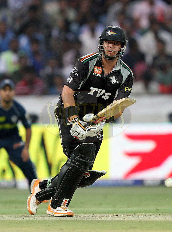 Jesse Ryder of PW in action during match 53 of the Indian Premier League ( IPL ) between the Deccan Chargers and the Pune Warriors India held at the Rajiv Gandhi International Cricket Stadium in Hyderabad on the 10th May 2011..Photo by Prashant Bhoot/BCCI/SPORTZPICS