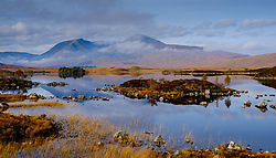"On the edge of Rannoch Moor ""Lochan nah-Achaise"" in the foreground with the peaks of Stob Ghabhar and Clach Leathad<br /> <br /> (c) Andrew Wilson 