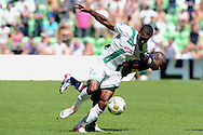 Onderwerp/Subject: FC Groningen - Willem II - Eredivisie<br /> Reklame:  <br /> Club/Team/Country: <br /> Seizoen/Season: 2012<br /> FOTO/PHOTO: Mitchell SCHET (FRONT) of FC Groningen in duel with Mitchell PIQUE (BEHIND) of Willem II. (Photo by PICS UNITED)<br /> <br /> Trefwoorden/Keywords: <br /> #04 $94 ±1341399422636<br /> Photo- & Copyrights © PICS UNITED <br /> P.O. Box 7164 - 5605 BE  EINDHOVEN (THE NETHERLANDS) <br /> Phone +31 (0)40 296 28 00 <br /> Fax +31 (0) 40 248 47 43 <br /> http://www.pics-united.com <br /> e-mail : sales@pics-united.com (If you would like to raise any issues regarding any aspects of products / service of PICS UNITED) or <br /> e-mail : sales@pics-united.com   <br /> <br /> ATTENTIE: <br /> Publicatie ook bij aanbieding door derden is slechts toegestaan na verkregen toestemming van Pics United. <br /> VOLLEDIGE NAAMSVERMELDING IS VERPLICHT! (© PICS UNITED/Naam Fotograaf, zie veld 4 van de bestandsinfo 'credits') <br /> ATTENTION:  <br /> © Pics United. Reproduction/publication of this photo by any parties is only permitted after authorisation is sought and obtained from  PICS UNITED- THE NETHERLANDS