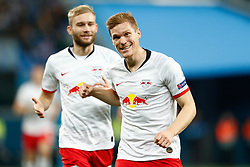 November 4, 2019, Saint Petersburg, USA: SAINT PETERSBURG, RUSSIA - NOVEMBER 05: defender Marcel Halstenberg of RB Leipzig and forward Emil Forsberg of RB Leipzig celebrate the score during UEFA Champions League match FC Leipzig at FC Zenit on November 05, 2019, at Saint Petersburg Stadium in Saint Petersburg, Russia. (Photo by Anatoliy Medved/Icon Sportswire) (Credit Image: © Anatoliy Medved/Icon SMI via ZUMA Press)