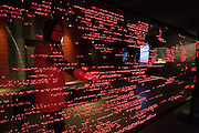 "Linz, Cultural Capital of Europe 2009. Ars Electronica Center. Level 2: Gallery. ""Poesie der Bewegung (Poetry of Movement)"". ""L-E-D-LED-L-ED"", 2008 by Tadahiro Suzuki."