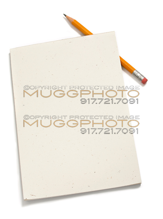 notepad with number 2 pencil