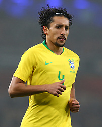 November 16, 2018 - London, England, United Kingdom - London, England - November 16, 2018.Marquinhos of Brazil .during Chevrolet Brazil Global Tour International Friendly between Brazil and Uruguay at Emirates stadium , Arsenal Football Club, England on 16 Nov 2018. (Credit Image: © Action Foto Sport/NurPhoto via ZUMA Press)